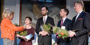 Researchgruppen och Expressens nominerades för Årets avslöjande. My Vingren och Martin Fredriksson vid Researchgruppen. David Baa och Christian Holmén vid Expressen. BERTIL ERICSON / TT / TT NYHETSBYRÅN