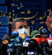 Tidigare presidenten Mahmoud Ahmadinejad stoppades från att kandidera. Vahid Salemi / TT NYHETSBYRÅN