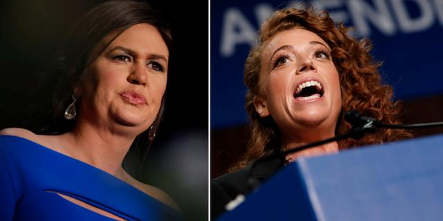 Sarah Huckabee Sanders, Michelle Wolf.  TT