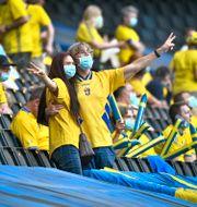 Svenska fans i samband med Sveriges landskamp mot Armenien tidigare i år. Claudio Bresciani/TT / TT NYHETSBYRÅN
