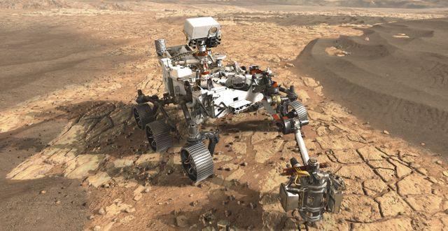 En illustration av Mars 2020-sonden. Nasa