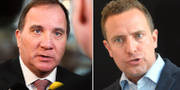 Statsminister Stefan Löfven och Moderaternas rättspolitiska talesperson  TT