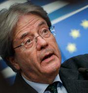 EU:s ekonomikommissionär Paolo Gentiloni.  Stephanie Lecocq / TT NYHETSBYRÅN
