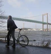 Stormigt vid Älvsborgsbron i Göteborg. Arkivbild. Adam Ihse/TT / TT NYHETSBYRÅN