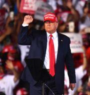 Donald Trump i Opa-Locka, Florida.  Jim Rassol / TT NYHETSBYRÅN