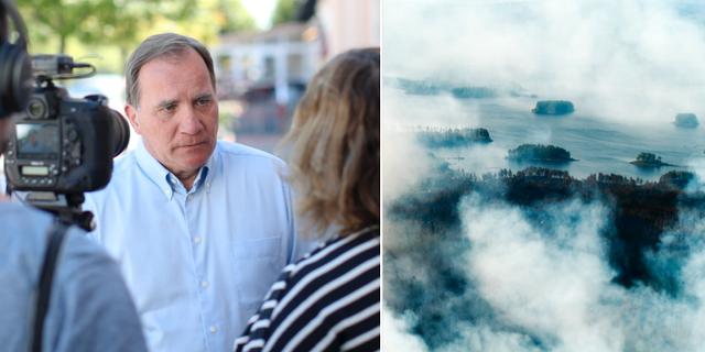 Arkivbild, Löfven/Flygbilder över branden runt Ljusdal. TT