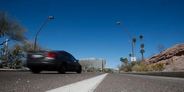 Här inträffade dödsolyckan med självkörande Uberbilen  i Arizona i mars 2018. Chris Carlson / TT NYHETSBYRÅN