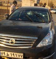 Bild från halvstatliga nyhetsbyrån Fars visar platsen där dådet begicks. TT NYHETSBYRÅN