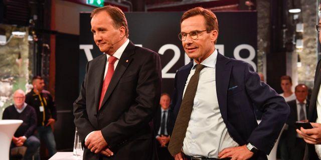 Stefan Löfven (S) och Ulf Kristersson (M). Henrik Montgomery/TT / TT NYHETSBYRÅN