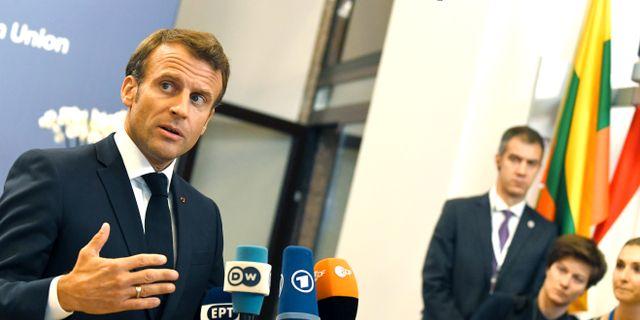 Frankrikes president Emmanuel Macron. Riccardo Pareggiani / TT NYHETSBYRÅN/ NTB Scanpix