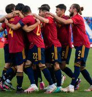 Spanien under en tidigare match. Manu Fernandez / TT NYHETSBYRÅN