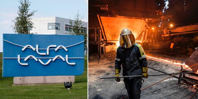 Arkivbilder: Alfa Laval och Assa Abloy gick sämst av storbolagen på Stockholmsbörsen. TT