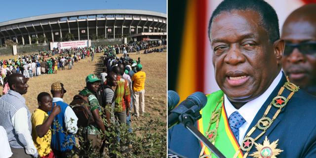 Folk börjar redan samlas på stadion i Harare för att svära in Emmerson Mnangagwa TT