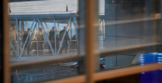 Kvinnorna landade på Arlanda.  Fredrik Sandberg/TT / TT NYHETSBYRÅN