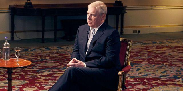 Prins Andrew i en intervju med BBC.
