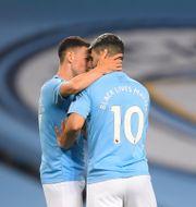 Manchester City jublar. Laurence Griffiths / TT NYHETSBYRÅN