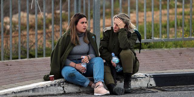 En israelisk soldat efter attacken. AMMAR AWAD / TT NYHETSBYRÅN