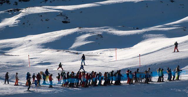 Skidorten Arosa i Schweiz. Gian Ehrenzeller / TT NYHETSBYRÅN