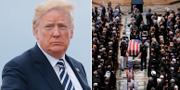 Donald Trump/McCains begravning TT