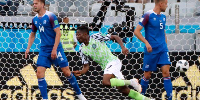 Ahmed Musa efter sitt 2–0-mål. JORGE SILVA / BILDBYR N
