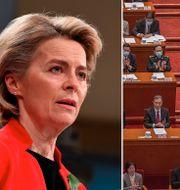 EU-kommissionens ordförande Ursula von der Leyen.  TT