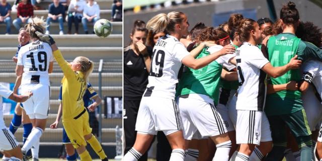Ekroth nickade in 1–0 för Juventus. JuventusFCWomen/Twitter