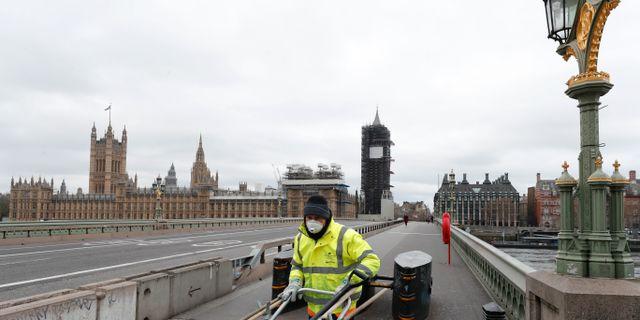 London i coronatider. Frank Augstein / TT NYHETSBYRÅN