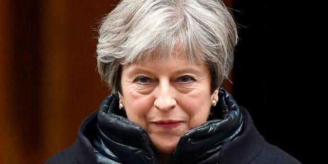 Theresa May.  TOBY MELVILLE / TT NYHETSBYRÅN