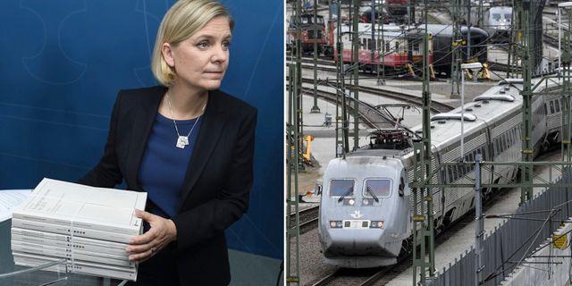 Magdalena Andersson. Svenskt tåg. TT