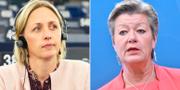 EU-parlamentarikern Jytte Guteland och Sveriges kommissionärskandidat Ylva Johansson.  TT