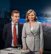 Arkivbild: Ulf Kristersson (M) och Ebba Busch Thor (KD) Vilhelm Stokstad/TT / TT NYHETSBYRÅN