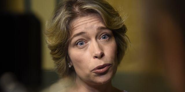 Socialminister Annika Strandhäll (S).  Marko Säävälä/TT / TT NYHETSBYRÅN