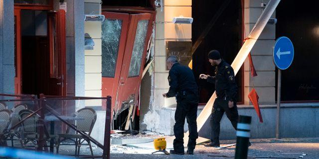 Polis på plats efter händelsen Johan Nilsson/TT / TT NYHETSBYRÅN