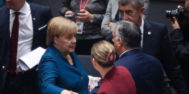Tysklands förbundskansler Angela Merkel under EU-toppmötet i Bryssel. POOL / TT NYHETSBYRÅN