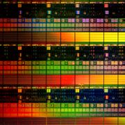 Lithography elements - Close-up of silicon wafer with chip dies Paul Raats