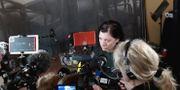 Maria Groop Russel blir ny vd för Dramaten, intervjuas av journalister efter pressträff en på Dramaten.  Janerik Henriksson/TT / TT NYHETSBYRÅN