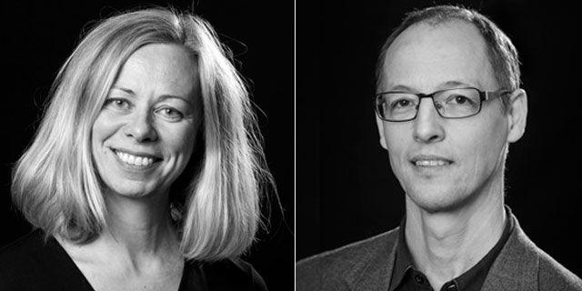Arkitekterna Hanna Ruta och James Martin.  ÅWL Arkitekter
