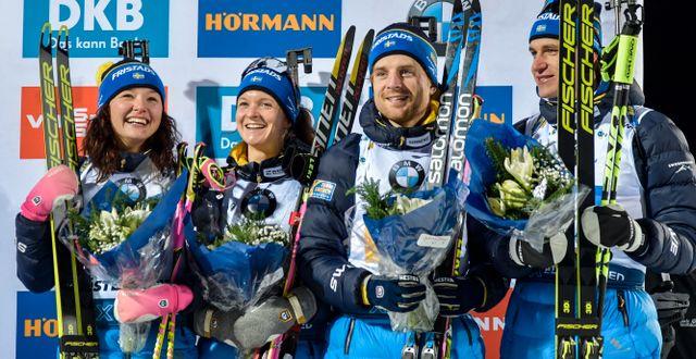 Linn Person, Mona Brorsson, Jesper Nelin, Martin Ponsiluoma. Anders Wiklund/TT / TT NYHETSBYRÅN