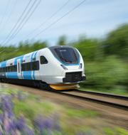 Designskiss av Västtrafiks nya tåg Bombardier Transportation Sweden AB