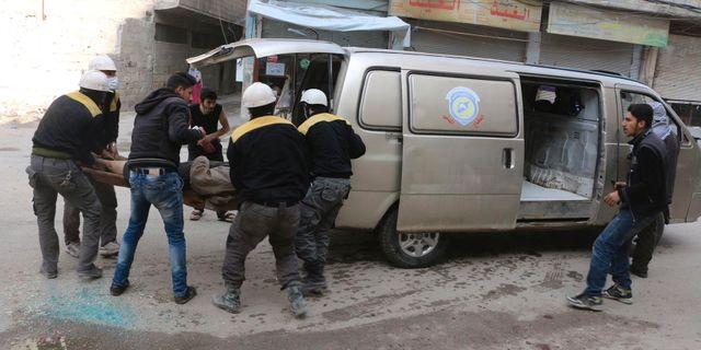 Vita hjälmarna vid en räddningsaktion i södra Ghouta. Arkivbild. Uncredited / TT / NTB Scanpix