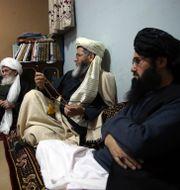 Fängslade talibaner under en intervju med AP/Arkivbild Rahmat Gul / TT NYHETSBYRÅN