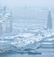Vy över Skeppsbron i Stockholm, 25 december 2020.  Christine Olsson/TT / TT NYHETSBYRÅN
