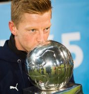 Malmö FF:s Anders Christiansen efter SM-segern. Emil Langvad/TT / TT NYHETSBYRÅN