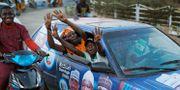 Anhängare till president Muhammadu Buhari. Ben Curtis / TT NYHETSBYRÅN/ NTB Scanpix