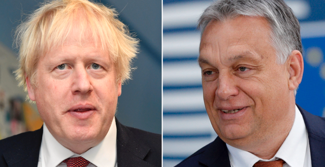 Boris Johnson och Viktor Orbán. TT