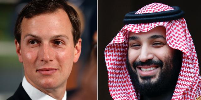 Jared Kushner och Mohammed bin Salman. TT