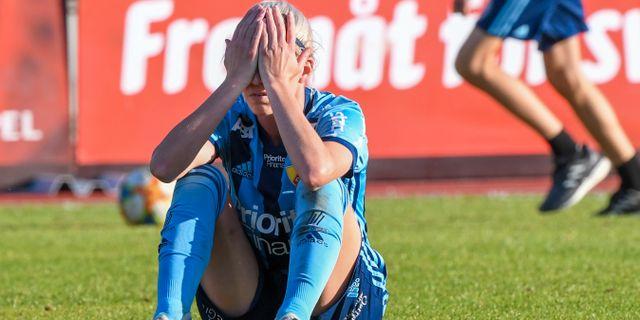 Djurgårdens Olivia Schough deppar. Jonas Ekströmer/TT / TT NYHETSBYRÅN