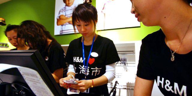 H&M-affär i Kina. TT NYHETSBYRÅN