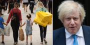 Människor i London/Boris Johnson.  TT