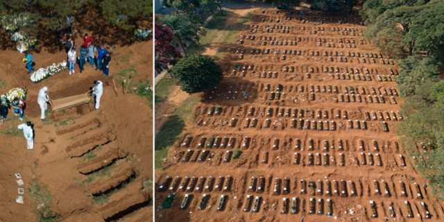 Bilder på de nya gravarna på Villa Formoso TT
